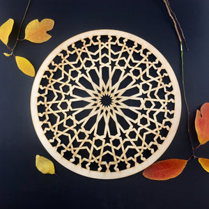 Decorative Laser Cut Wood Work Craft Center Piece Ornament (O-036)