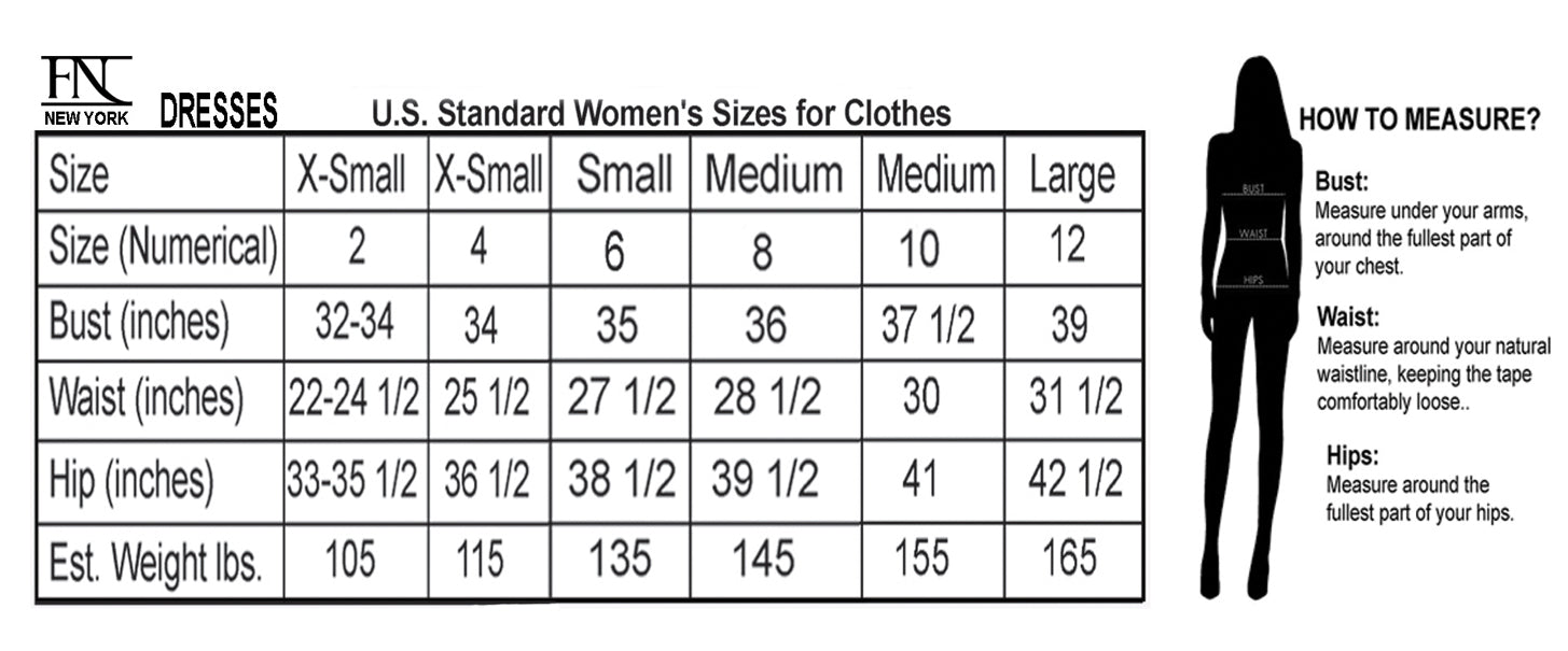 FARAH NAZ New York Size Guide