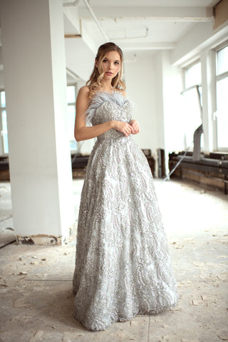Feathers Wedding Gown