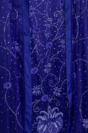 Sapphire Blue Fitted Gown and Shawl