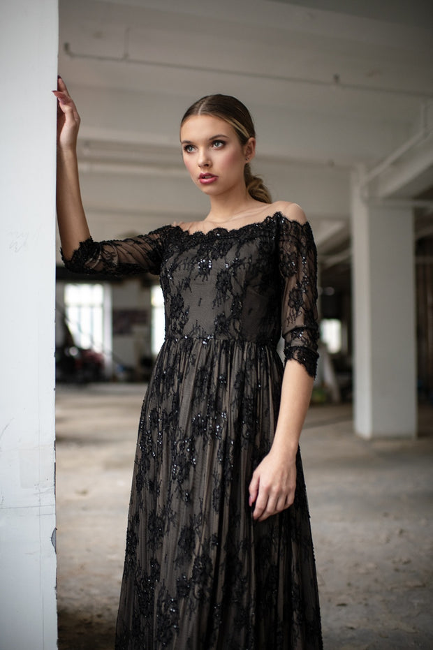 Chantilly French Lace Gown