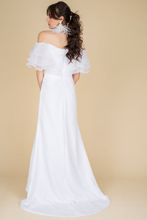 train bridal gown