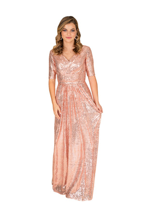 Sequin Fit and Flare Gown