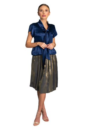 crushed silk skirt