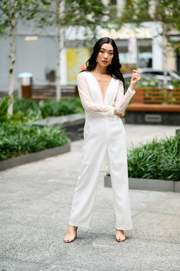 Embroidered Lace Jumpsuit