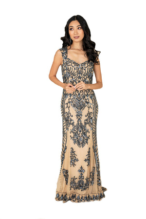 Sweep Sequined Gown