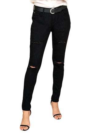 women ripped jeans