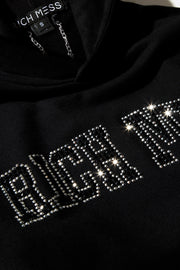 Rhinestone Hooded Sweatshirt