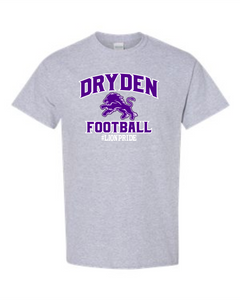 Dryden Small Fry Football Tee Grey