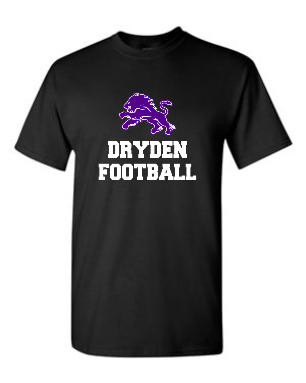 Dryden Football Tee Black- 2 Color Image