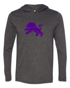 Dryden Football Hooded Longsleeve Tee - Dark Heather-1 Color Image