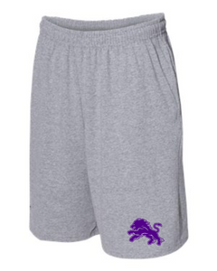 Dryden Lion Shorts-Grey 1 Color Logo