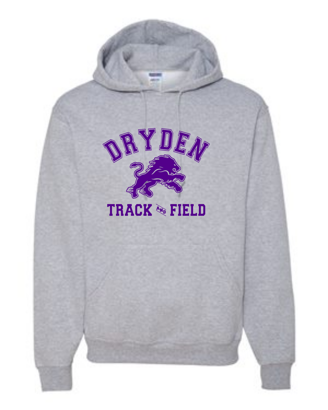 Grey Track and Field Hoodie