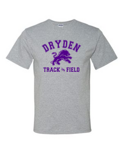 Grey Track and Field Tee