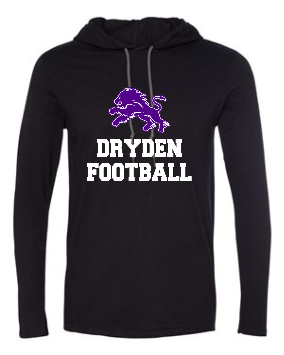 Dryden Football Hooded Longsleeve Tee - Black