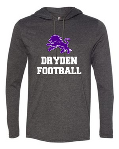 Dryden Football Hooded Longsleeve Tee - Dark Heather-2 Color Image