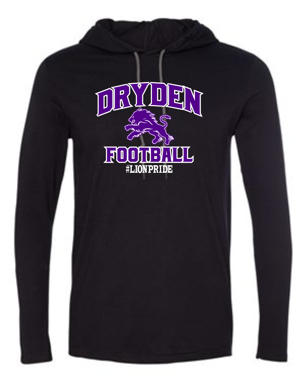 Dryden Small Fry Football Hooded Longsleeve Tee - Black