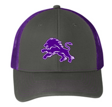 Load image into Gallery viewer, Dryden Football Mesh Snapback Grey/Purple