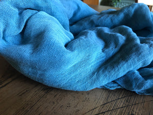 Forget-me-not Blue cheesecloth