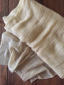 Soft Yellow Cheesecloth