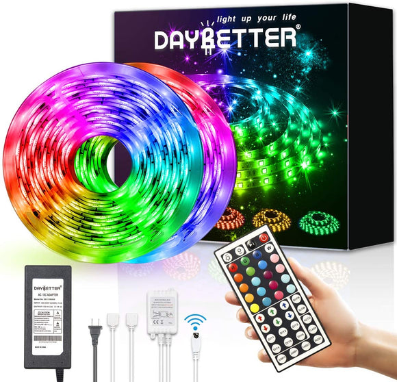 () 32.8ft LED Strip Light w/ Remote (ZZ-DayBetter)