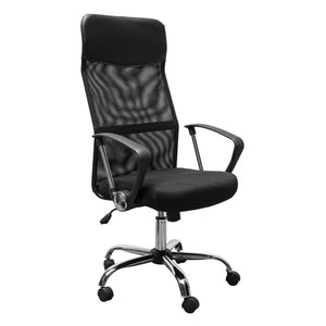 () Large Mesh Office Chair, Black (CHR-001)