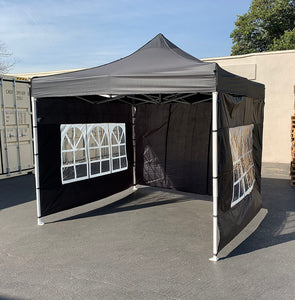 () 10x10' Canopy with 4 Sidewall, Black (CAN-001)