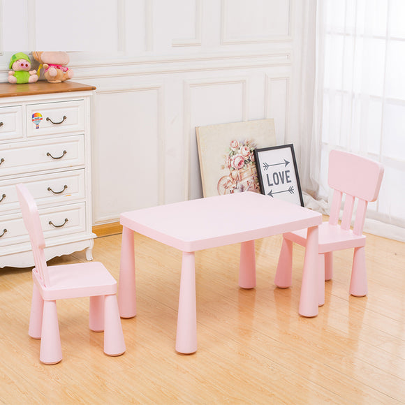 () Kids Table & 2 Chair, Pink (PF-011)