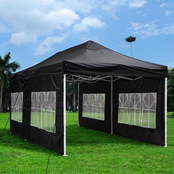 (A1) 10x20' Canopy w/ Walls, Black (07-CAN001-1020-06)