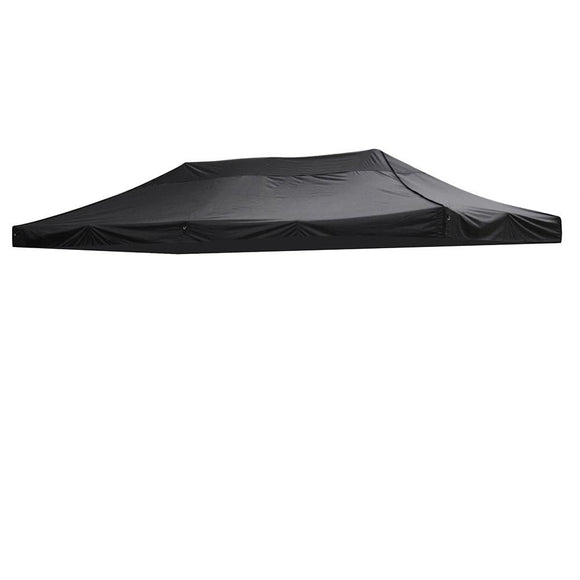 (A10) 10x20' Replacement Canopy Cover, Black (07-CTP002-06)