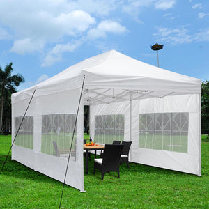 (A1) 10x20' Canopy w/ Walls, White (07-CAN001-1020-07)