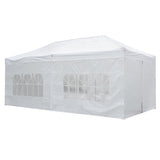 (B12) 10x20' Canopy w/ Walls, White (07-CAN001-1020-07)