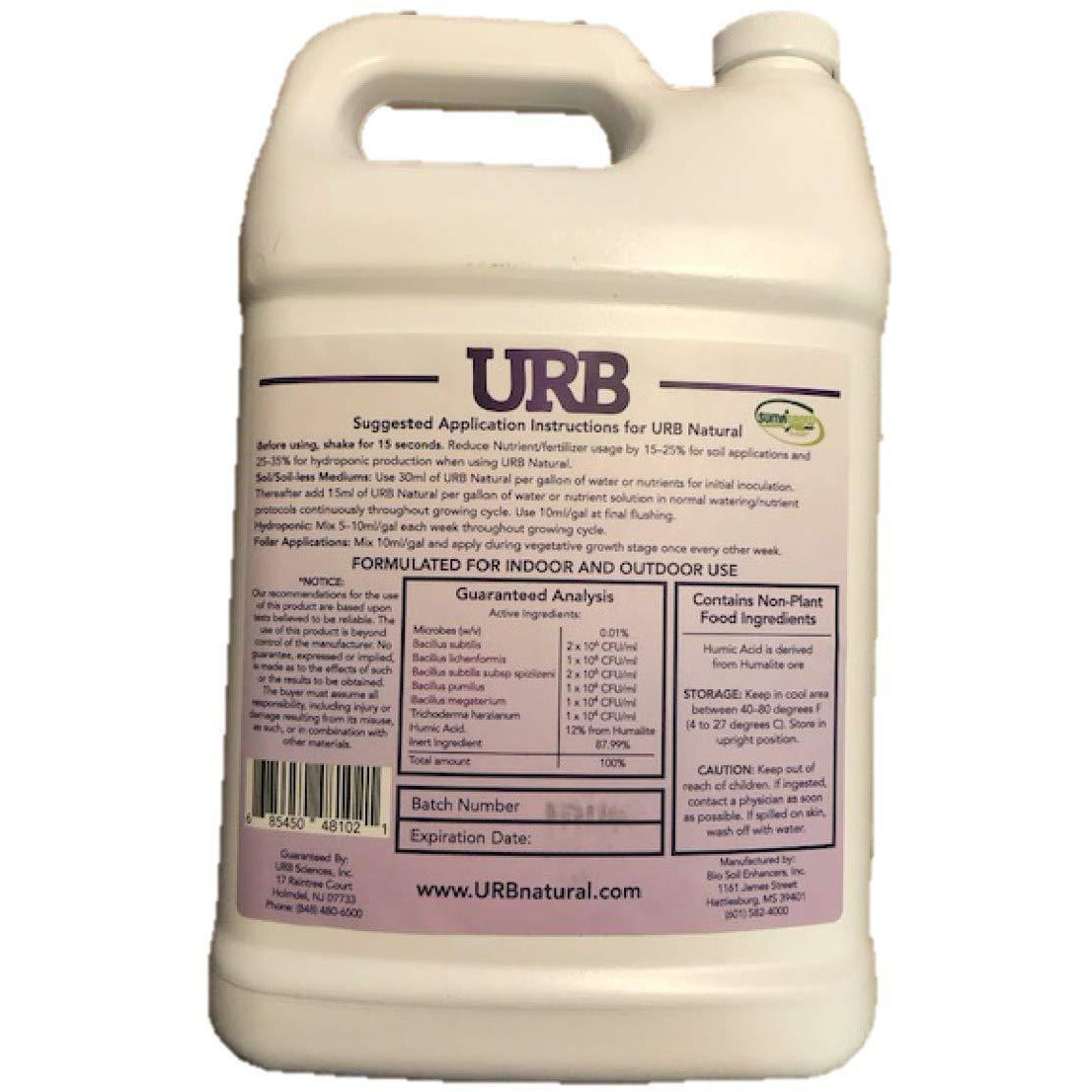 URB Natural 4 Liters Microbial Inoculant legalizeURB