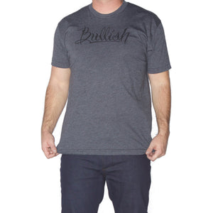 50/50 Poly/Cotton Super Soft fitted American Made Charcoal Bullish T-Shirt