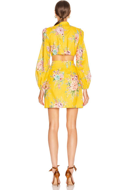 Zimmermann Zinnia Dress Golden Floral
