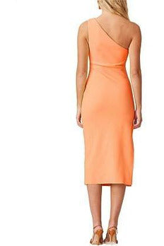 Rent Bec & Bridge Bec & Bridge Clover Asym Midi Dress - Nectarine