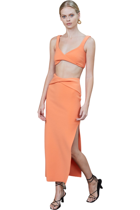 Rent Bec & Bridge Bec & Bridge Clover Crop Top Nectarine