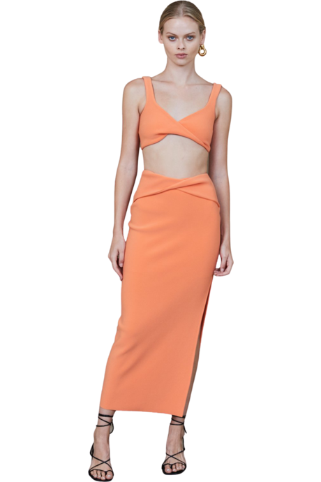Rent Bec & Bridge Bec & Bridge Clover Midi Skirt Nectarine