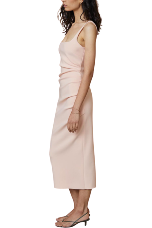 Rent Bec & Bridge Bec & Bridge Maddison Tuck Midi Dress Peach