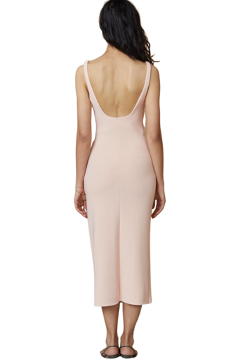 Hire Bec & Bridge Maddison Tuck Midi Dress Peach by Bec & Bridge