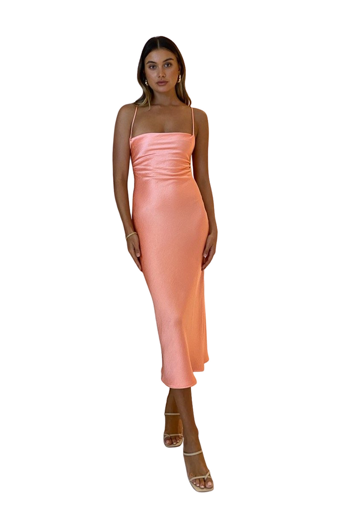 Hire Bec & Bridge Veronique Midi Dress Coral by Bec & Bridge