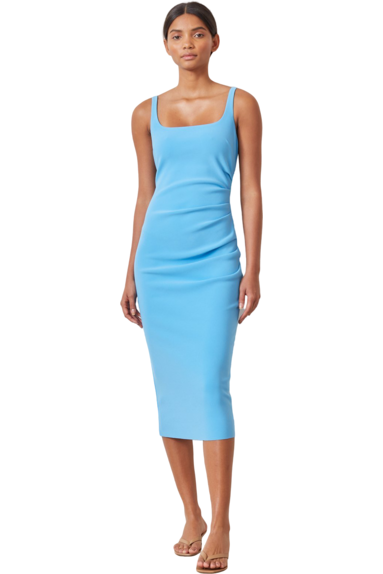 Rent Bec & Bridge Paloma Midi Dress Blue