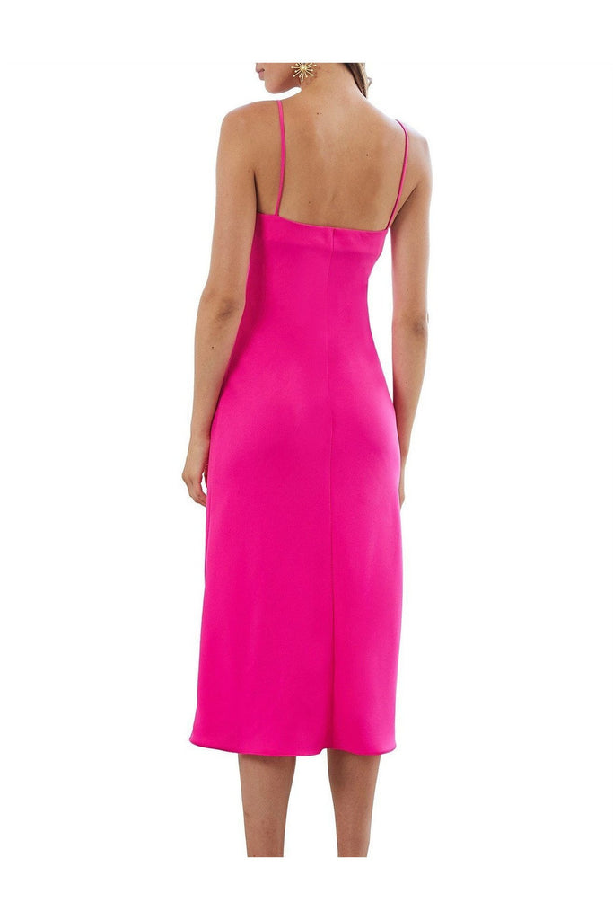 Hire Neon Bias Slip Midi Dress by By Johnny