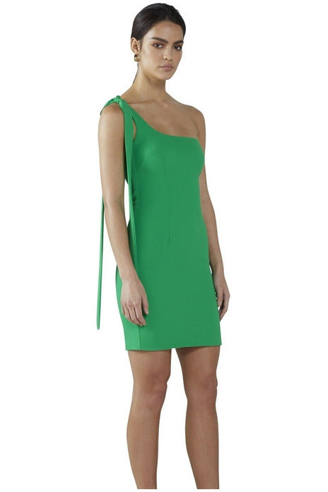 Hire One Shoulder Mini Dress by By Johnny