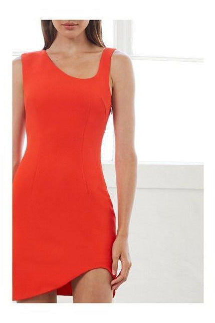 Rent By Johnny Red Rush Asymmetric Mini Dress
