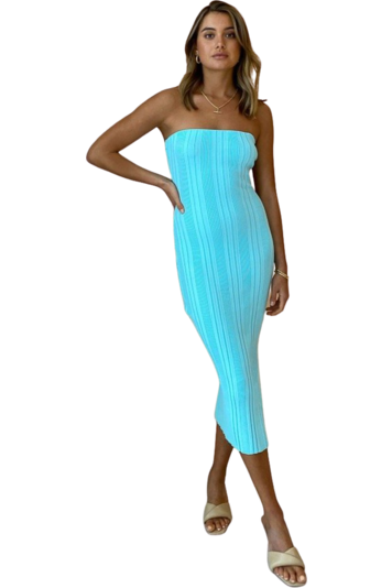 Hire By Nicola All The Stars Midi Dress Ice Blue by By Nicola