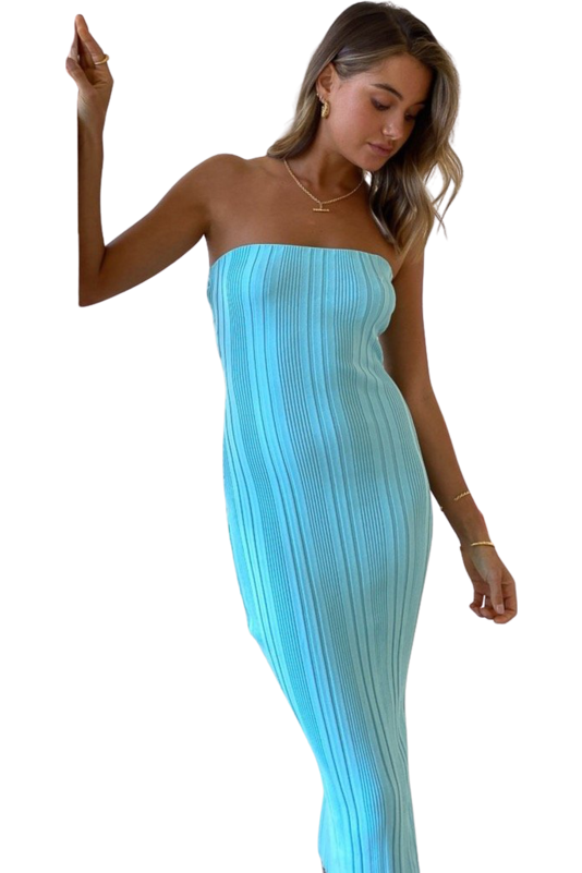 Rent By Nicola By Nicola All The Stars Midi Dress Ice Blue