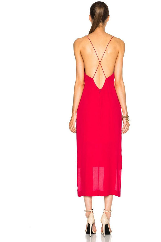 Rent Dion Lee Dion Lee Fine Line Slip Dress Cherry Red