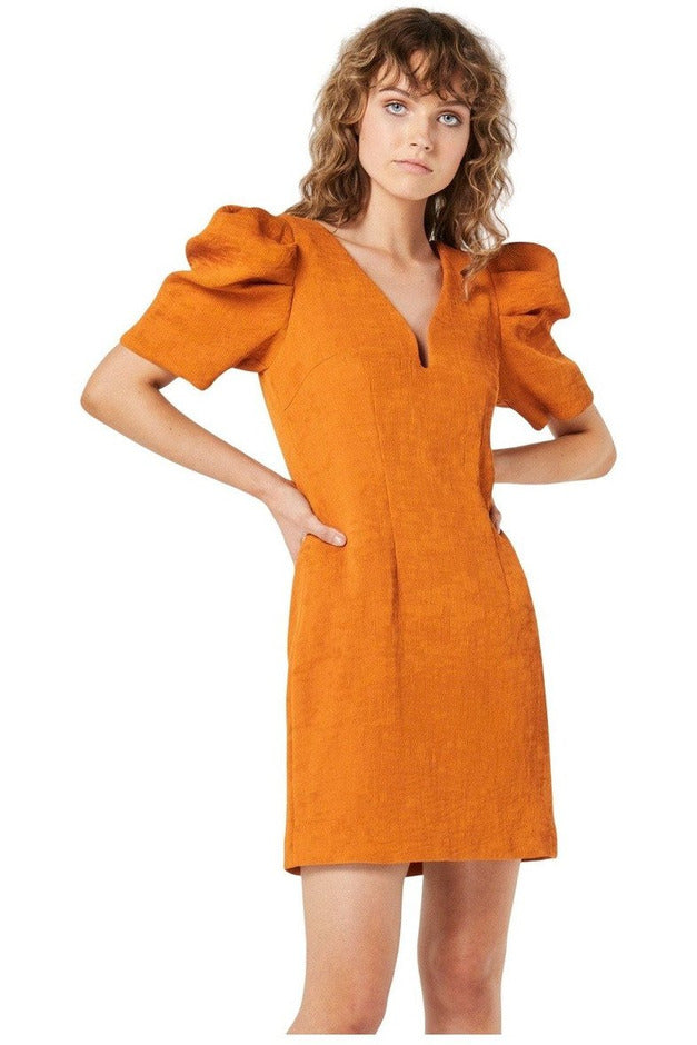 Rent Elliatt Floridita Mini Dress Rust
