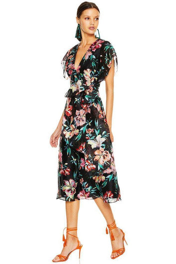 Hire Cabana Nights Midi Dress by La Maison Talulah